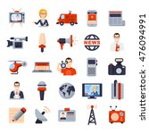 illustrations of flat icon set... | Shutterstock .eps vector #476094991