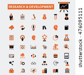 research development icons | Shutterstock .eps vector #476095111