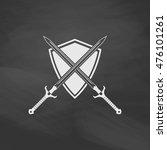 heraldry simple vector button....