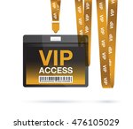 id lanyard card vip   Shutterstock .eps vector #476105029