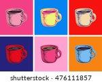 set coffee mug vector... | Shutterstock .eps vector #476111857