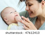 happy family  mother and baby   ... | Shutterstock . vector #47612413