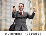 business man sales celebration... | Shutterstock . vector #476140519