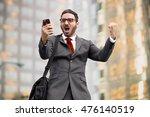 business man sales celebration... | Shutterstock . vector #476140519