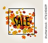 autumn sale background with... | Shutterstock .eps vector #476140609