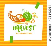 logo for harvest autumn... | Shutterstock . vector #476143084
