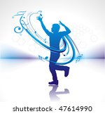 silhouetted a young man enjoy... | Shutterstock .eps vector #47614990