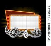 movie marquee   Shutterstock .eps vector #47616193