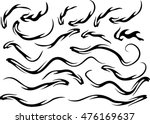 fire vector drawing design set | Shutterstock .eps vector #476169637