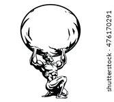 atlas stylized drawing vector... | Shutterstock .eps vector #476170291