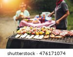asian garden grilled of... | Shutterstock . vector #476171074