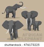 african elephant cartoon vector ... | Shutterstock .eps vector #476173225