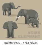asian elephant cartoon vector... | Shutterstock .eps vector #476173231
