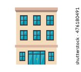hotel building place property... | Shutterstock .eps vector #476180491