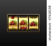 cherries on slot machine....   Shutterstock .eps vector #47618158