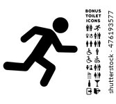 running man icon and bonus male ... | Shutterstock . vector #476193577