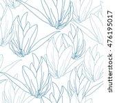 floral seamless pattern. vector ... | Shutterstock .eps vector #476195017