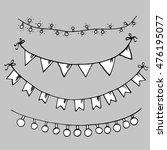 set of minimalist hand drawn... | Shutterstock .eps vector #476195077