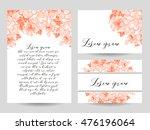 vintage delicate invitation... | Shutterstock .eps vector #476196064
