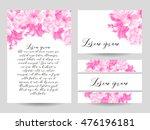 vintage delicate invitation... | Shutterstock .eps vector #476196181