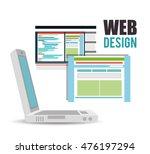web design online media icon... | Shutterstock .eps vector #476197294