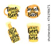 beer set icons  logo  label.... | Shutterstock .eps vector #476198671