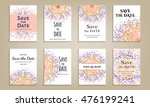 set of cards save the date....   Shutterstock .eps vector #476199241