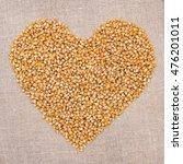 Yellow Corn Seeds Pile On...