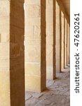 Pillars in Hatshepsut Temple at Luxor.Egypt - stock photo