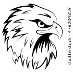 fighting hawk  | Shutterstock .eps vector #476204359