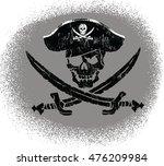 pirate skull | Shutterstock .eps vector #476209984