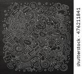 cartoon cute doodles hand drawn ... | Shutterstock .eps vector #476211841