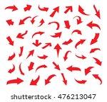 hand drawn arrows.vector arrows ... | Shutterstock .eps vector #476213047
