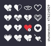 abstract heart vector icons.... | Shutterstock .eps vector #476214829