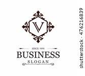 v letter vector logo template ... | Shutterstock .eps vector #476216839