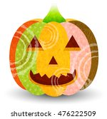 halloween pumpkin ghost icon | Shutterstock .eps vector #476222509