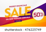 biggest online sale poster... | Shutterstock .eps vector #476225749