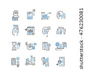 set of thin line business icons | Shutterstock .eps vector #476230081