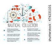collection of nautical elements ... | Shutterstock .eps vector #476231101