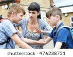teacher stopping two boys... | Shutterstock . vector #476238721