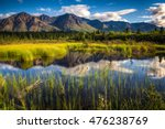 view of a mountain range in... | Shutterstock . vector #476238769