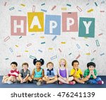 enjoy happy imagination kids... | Shutterstock . vector #476241139