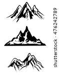 mountain ranges  | Shutterstock .eps vector #476242789
