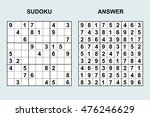 vector sudoku with answer....   Shutterstock .eps vector #476246629