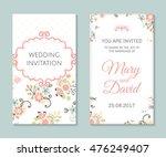 wedding set. romantic vector... | Shutterstock .eps vector #476249407