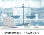 Law Concept. Lawyer Workplace...