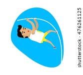 athletics pole vault  sports... | Shutterstock .eps vector #476261125