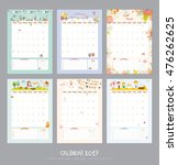 cute calendar template for 2017.... | Shutterstock .eps vector #476262625