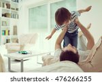 dad and son at home | Shutterstock . vector #476266255