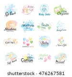 set of babies icon. labels and... | Shutterstock .eps vector #476267581
